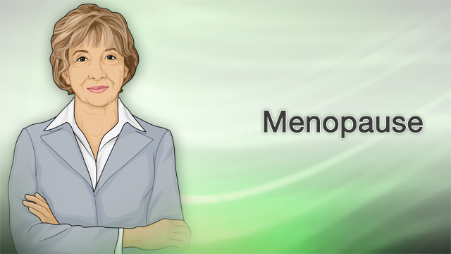 <div class=media-desc><strong>Menopause</strong><p>You're a woman nearing middle age. It's that time in your life when your periods are starting to stop and your body is going through changes. You may be starting to have hot flashes that you've heard about before. Could menopause be around the corner? So, what is menopause? Menopause typically happens to women somewhere around the ages of 45 to 55. During menopause, your ovaries stop making eggs and produce less estrogen and progesterone, hormones that play a vital role in pregnancy and how your body uses calcium and maintains healthy cholesterol levels, among other things. Changes in these hormones cause menopause symptoms. You will often begin having fewer periods, and eventually they stop. Menopause is complete when you have not had a period for over a year. Women who are post-menopausal can no longer get pregnant without a donor egg. Symptoms can vary from woman to woman. And these symptoms may last 5 or more years. Also, some women have worse symptoms than others. The first thing you may notice is that your periods start to change. They might occur more often or less often. Some women get their period every 3 weeks during menopause. These changes may last several years before periods completely stop. Other common symptoms include your heart pounding or racing, hot flashes, night sweats, skin flushing, and problems sleeping. You may have a decreased interest in sex, develop forgetfulness, have headaches, and suffer from mood swings, and have vaginal dryness and painful sexual intercourse. Treatment for menopause depends on many things, including how bad your symptoms are, your overall health, and your preference. It may include lifestyle changes or hormone therapy. Hormone therapy may help if you have severe hot flashes, night sweats, mood problems, or vaginal dryness. Hormone therapy is treatment with estrogen and, sometimes, progesterone. Talk to your doctor about the benefits and risks of hormone therapy. Hormone therapy may increase your risk of developing breast cancer, heart attacks, strokes, and blood clots. Topical hormone therapy has some of the benefits and fewer of the risks. Your doctor can tell you about other options besides taking hormones, including antidepressants, a blood pressure medicine called clonidine, and Gabapentin, a seizure drug that can help reduce hot flashes. Lifestyle changes may help in reducing your menopause symptoms, though it's not been proven. You might consider trying to avoid caffeine, alcohol, and certain spicy foods. Or to try eating soy foods and other legumes, because they contain phytoestrogens. You'll want to remember to get plenty of calcium and vitamin D in your food or supplements, and plenty of exercise especially during this time. Consider Kegel exercises every day to strengthen the muscles of the vagina and pelvis. Practice slow, deep breathing if you feel a hot flash coming on. Yoga, tai chi, or meditation may also helpful. After menopause, you may be at risk for bone loss, higher cholesterol, and heart disease, so make sure you work with your doctor to manage or even prevent these problems.</p></div>