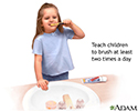 Teach children to brush