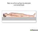 Treatment for strained back