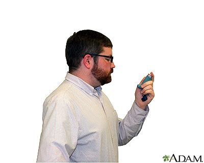 Metered dose inhaler – step two