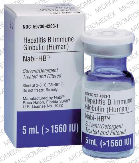 Hepatitis B immune globulin