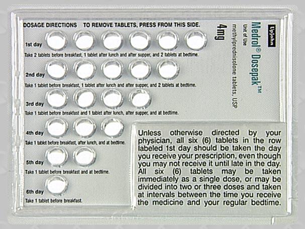 Compare Medrol Dosepak vs Prednisone - Comprehensive ...