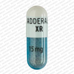 Imprint: ADDERALL XR 15 mg